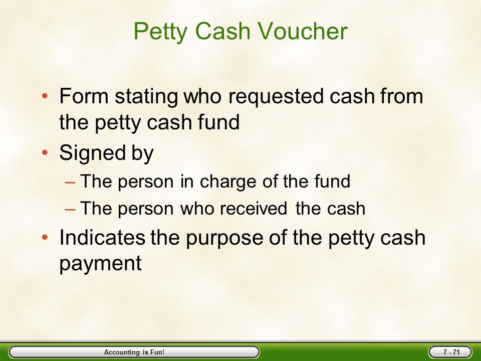 Bank Accounts And Cash Funds - Ppt Download