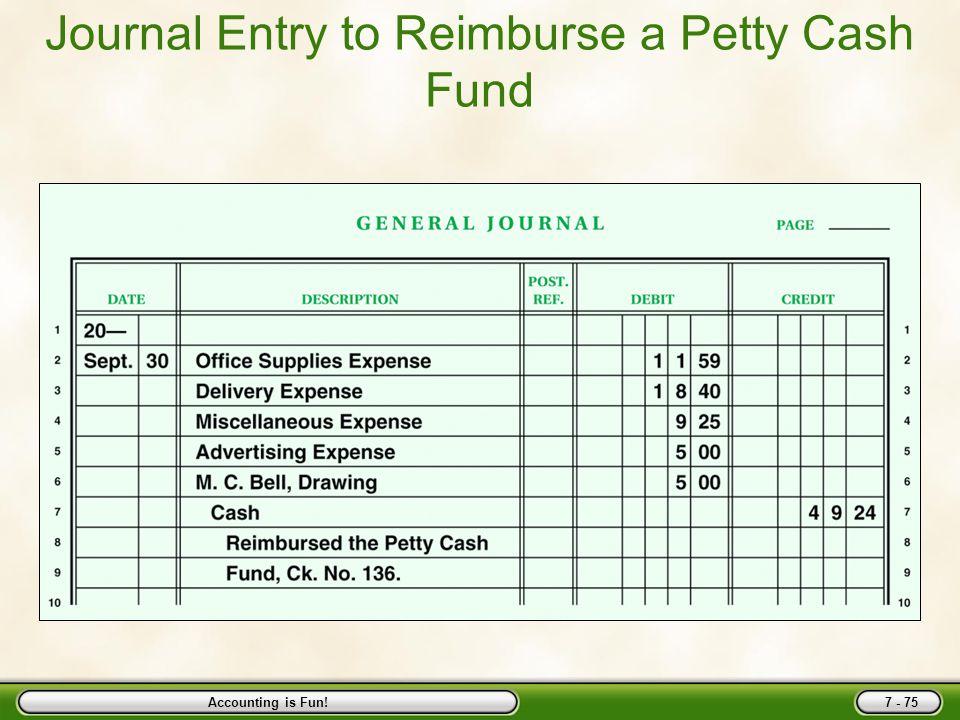 petty cash reimbursement