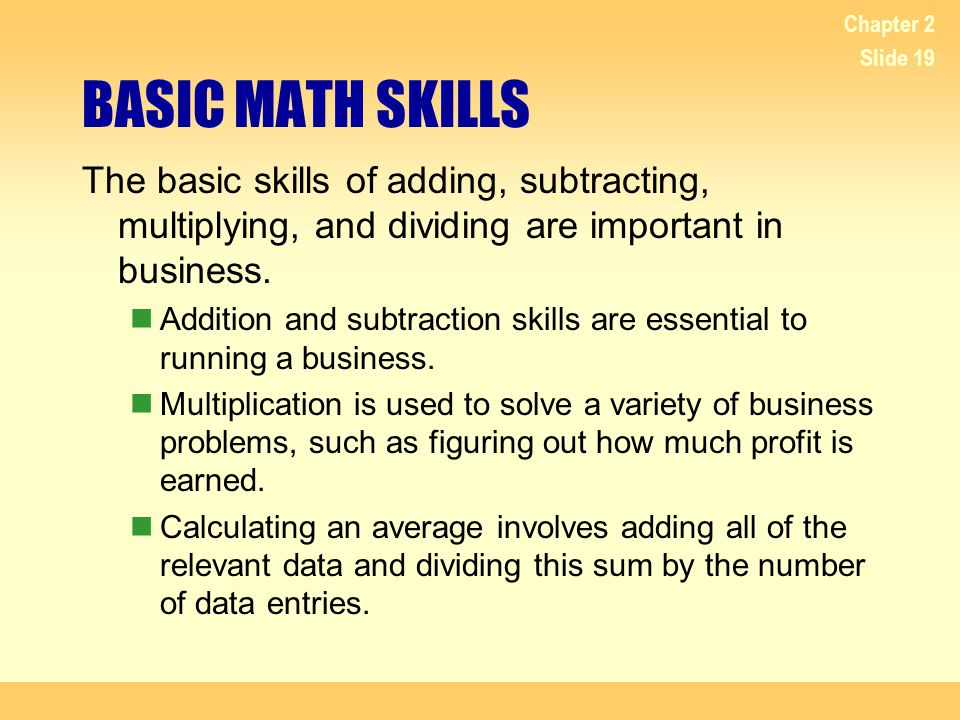 The importance of math skills in