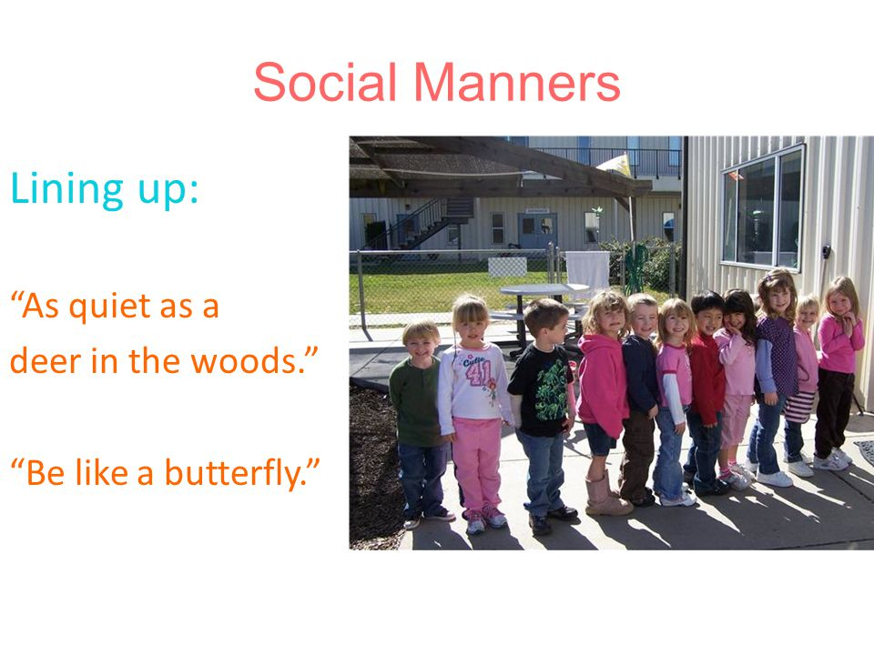 Teaching Children Good Manners Grace And Courtesy Ppt