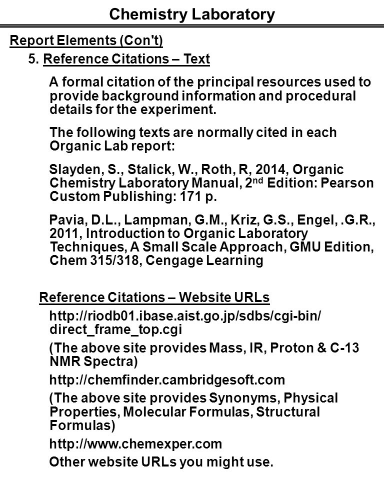 Referencing a book in a lab report
