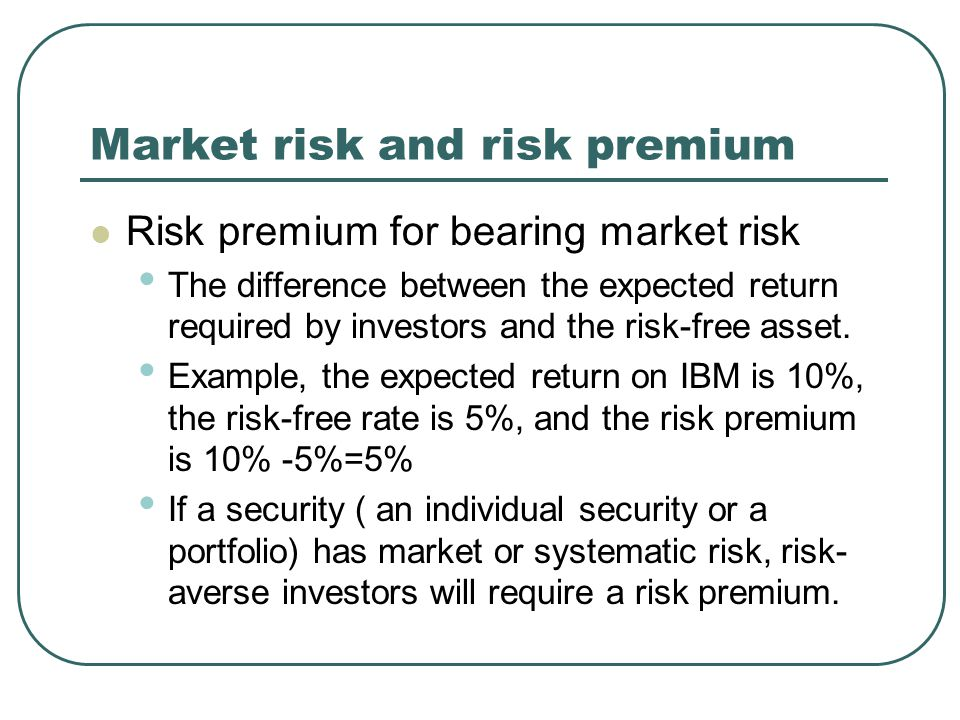 Calculating the Risk Premium of the Market