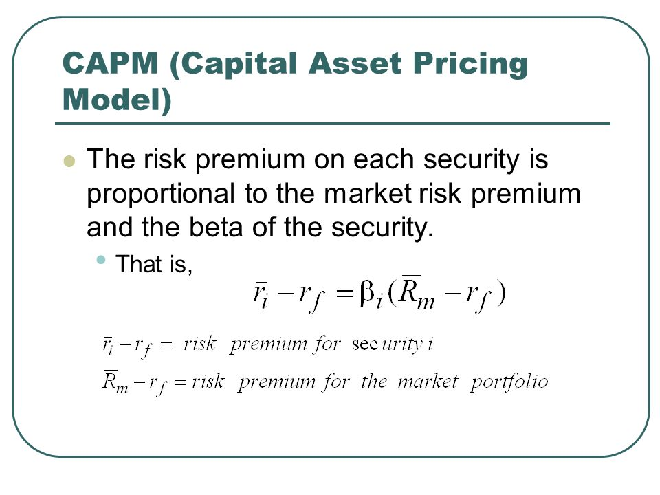 capm risk and beta