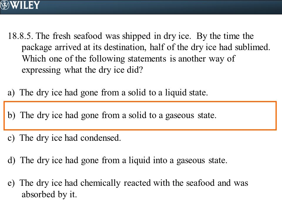 18. 8. 5. The fresh seafood was shipped in dry ice
