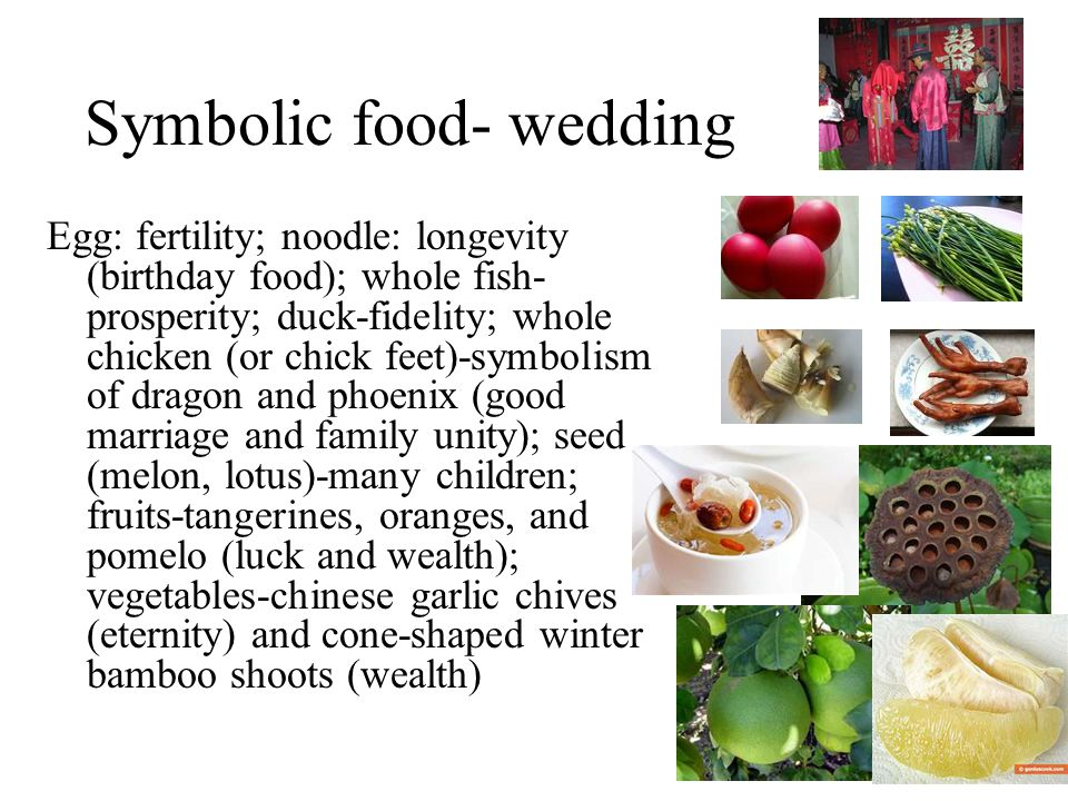 Chinese Wedding Food Symbolism