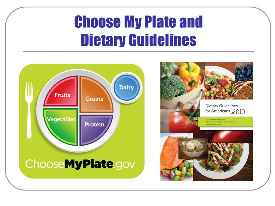 Choose My Plate and Dietary Guidelines