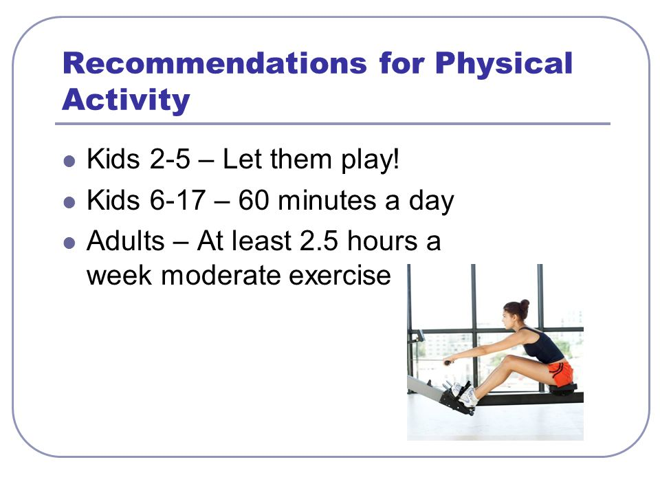 Recommendations for Physical Activity
