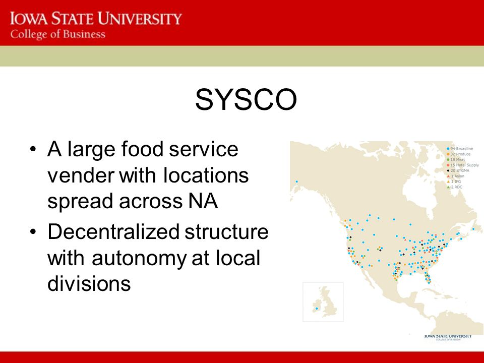 sysco food service essay Operating managers in sysco have benefited from the market-driven hr  approach  work, provision of ppe, food and transport, and sufficient rest in the  day time  an amount of money that is stated in a contract by providing a service  to the.