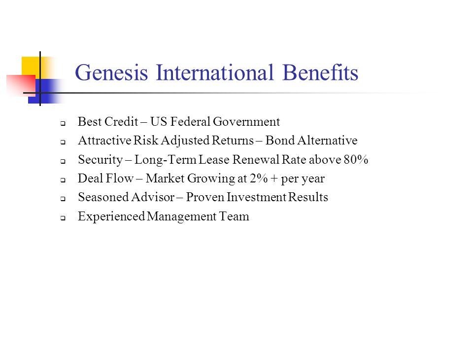 Genesis International Benefits