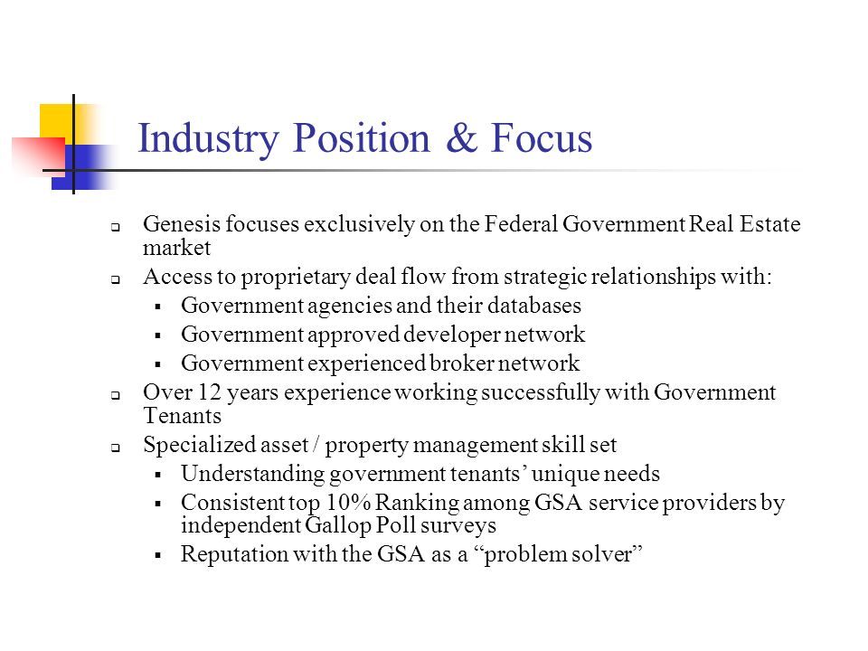 Industry Position & Focus