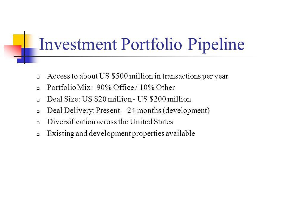 Investment Portfolio Pipeline