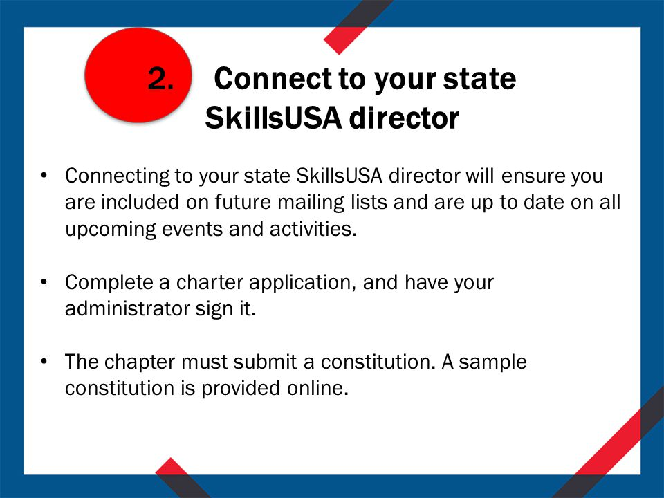 Starting a SkillsUSA Middle-School Chapter - ppt download