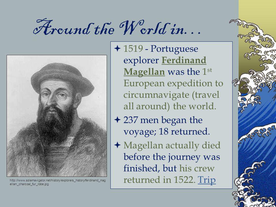 Ferdinand Magellan Portuguese Explorer: History Of Aquatic Science