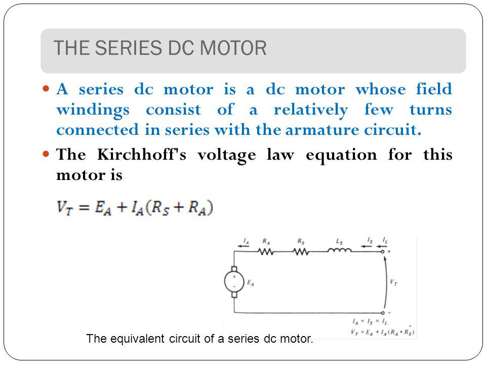 The Series Dc Motor on Dc Motor Field Windings