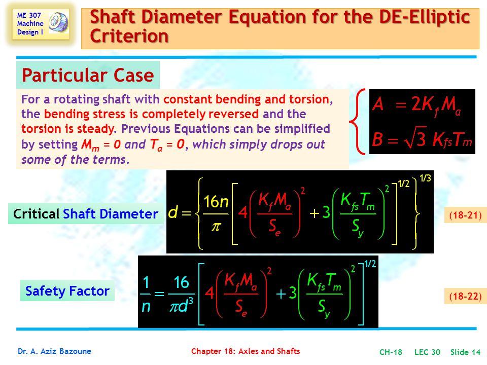 Critical Shaft Diameter