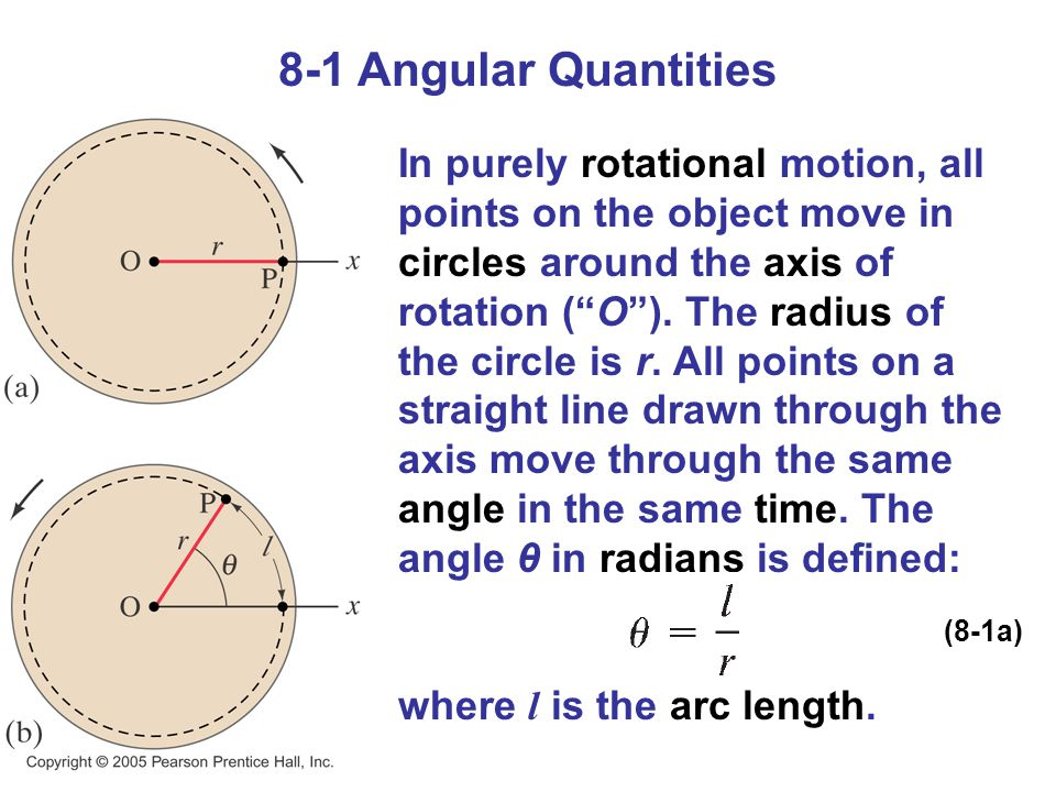 8-1 Angular Quantities