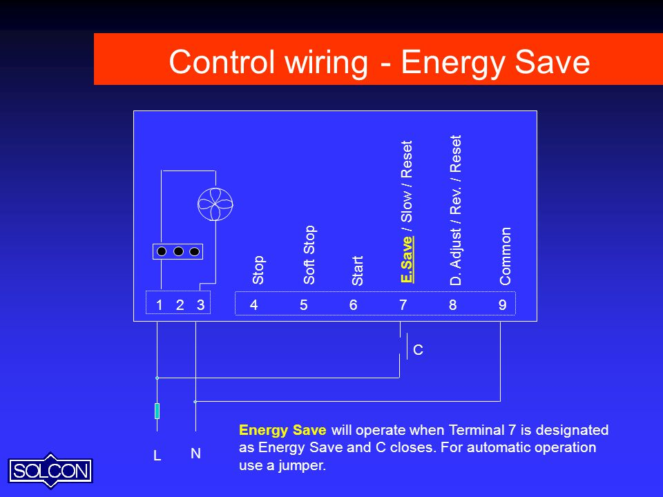 Control wiring - Energy Save