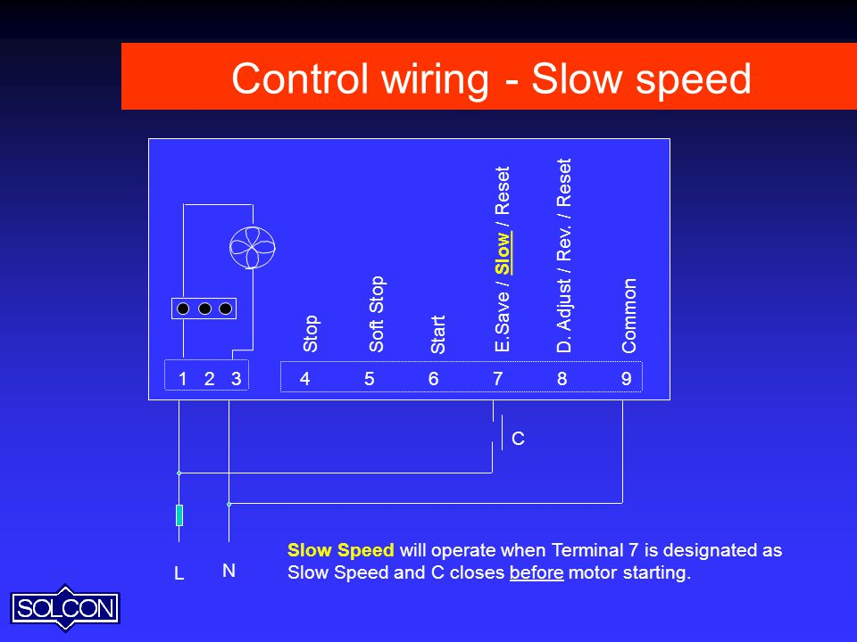 Control wiring - Slow speed
