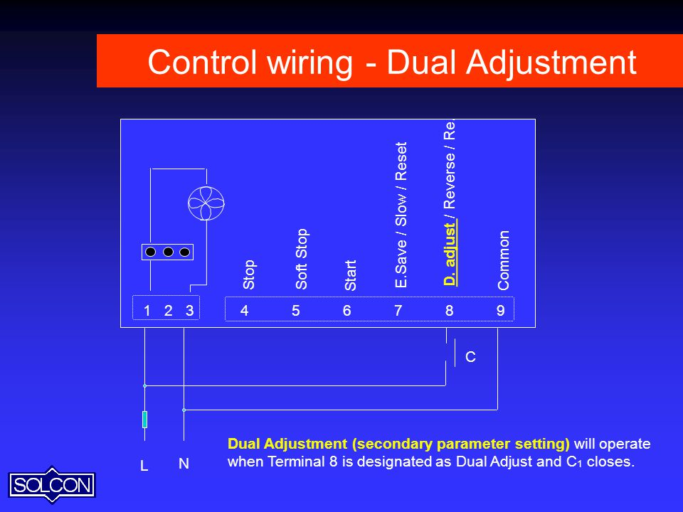 Control wiring - Dual Adjustment