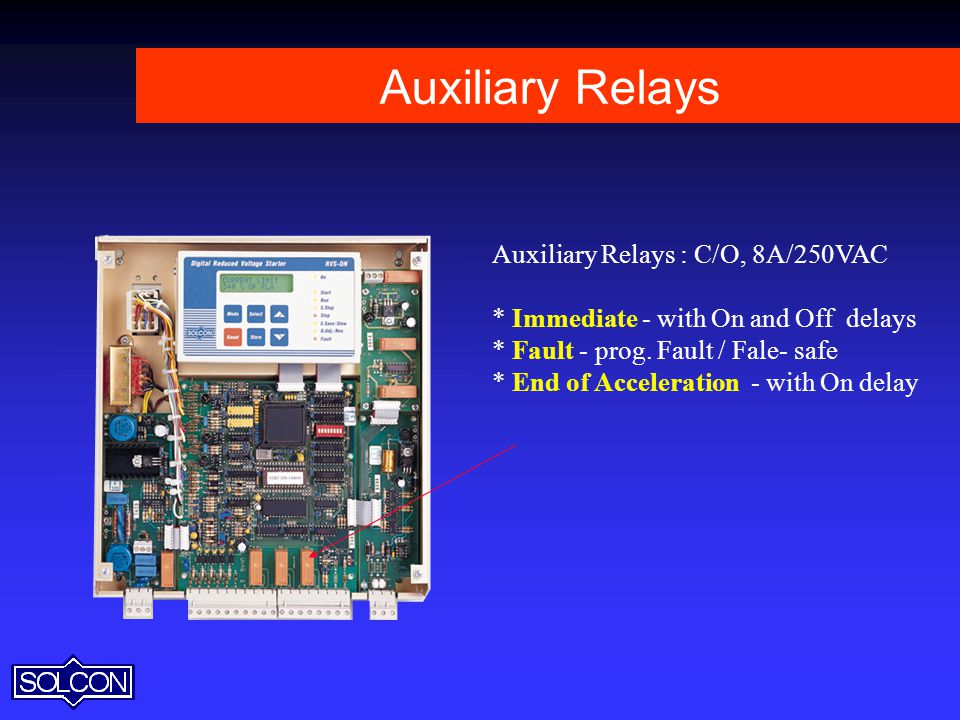 Auxiliary Relays Auxiliary Relays : C/O, 8A/250VAC