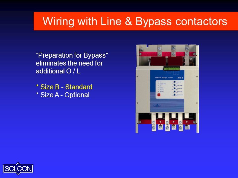 Wiring with Line & Bypass contactors