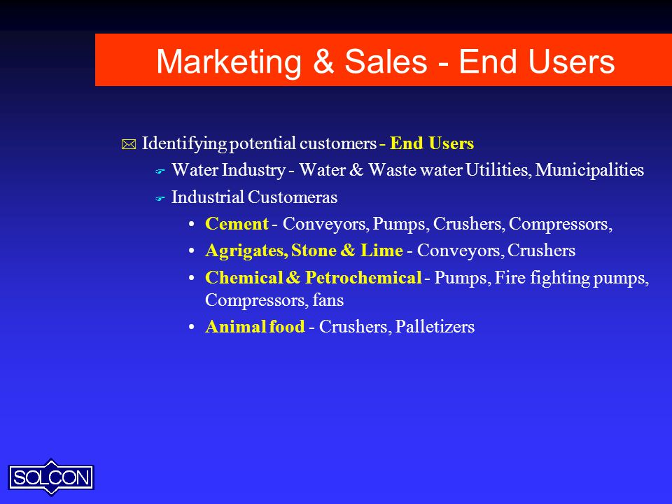 Marketing & Sales - End Users