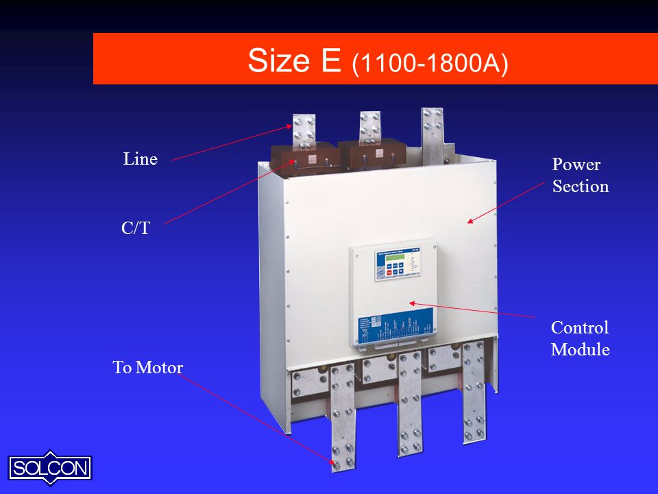Size E ( A) Line Power Section C/T Control Module To Motor 65