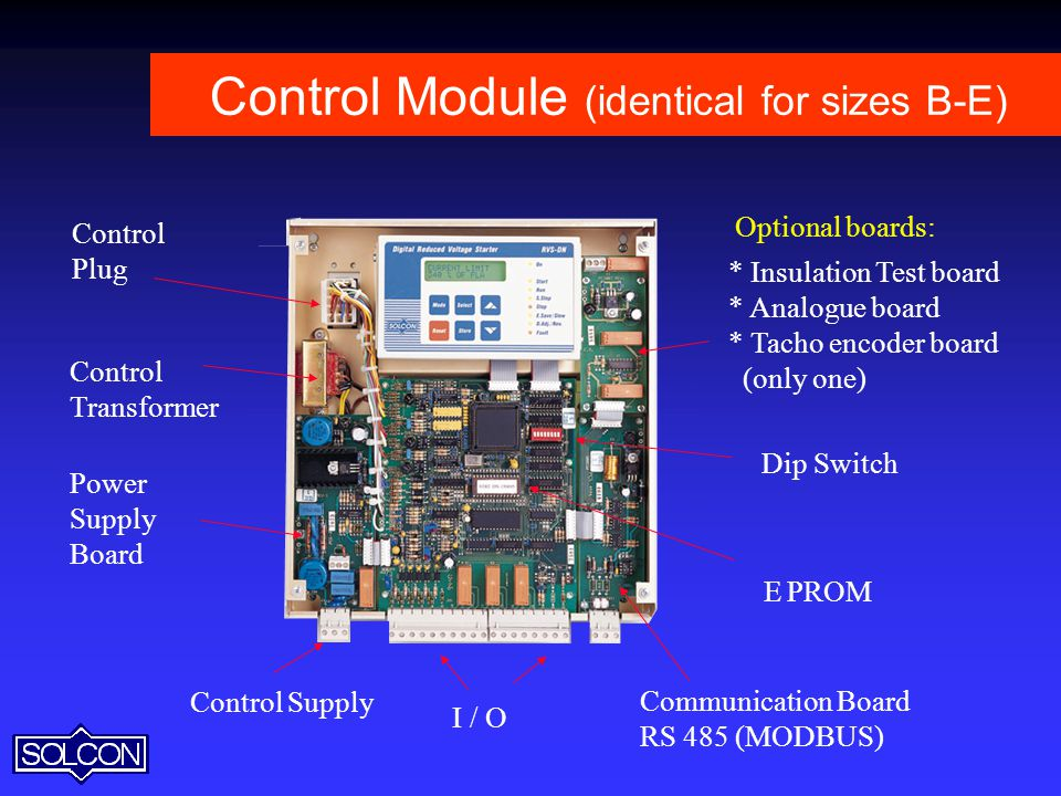 Control Module (identical for sizes B-E)