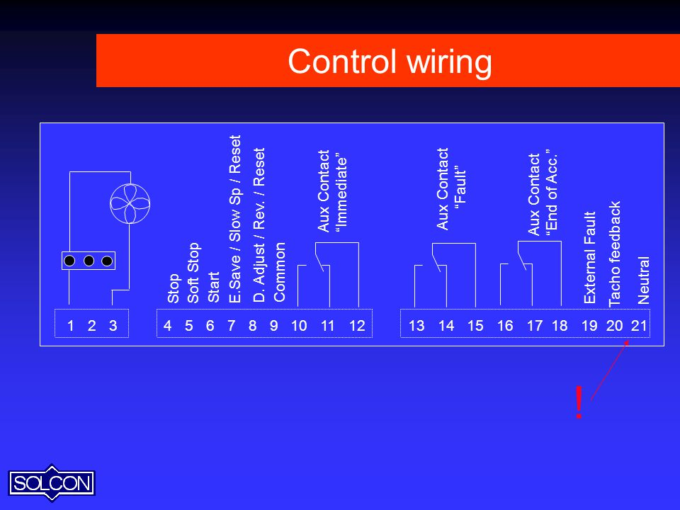 ! Control wiring Aux Contact Immediate End of Acc. Fault