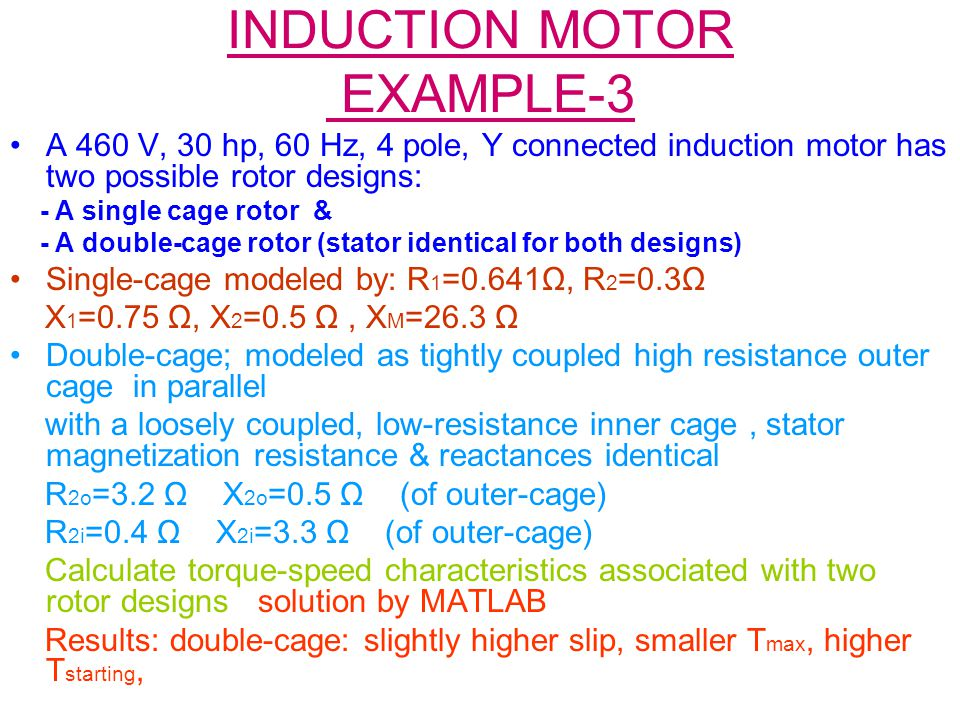 INDUCTION MOTOR EXAMPLE-3