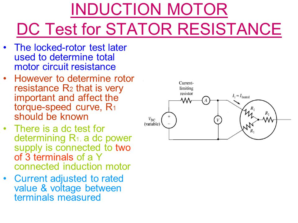 How to calculate rotor resistance of induction motor for How to check ac motor
