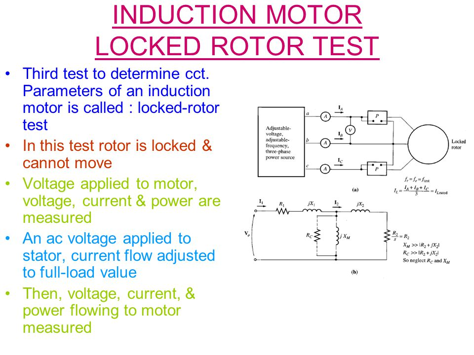 INDUCTION MOTOR LOCKED ROTOR TEST