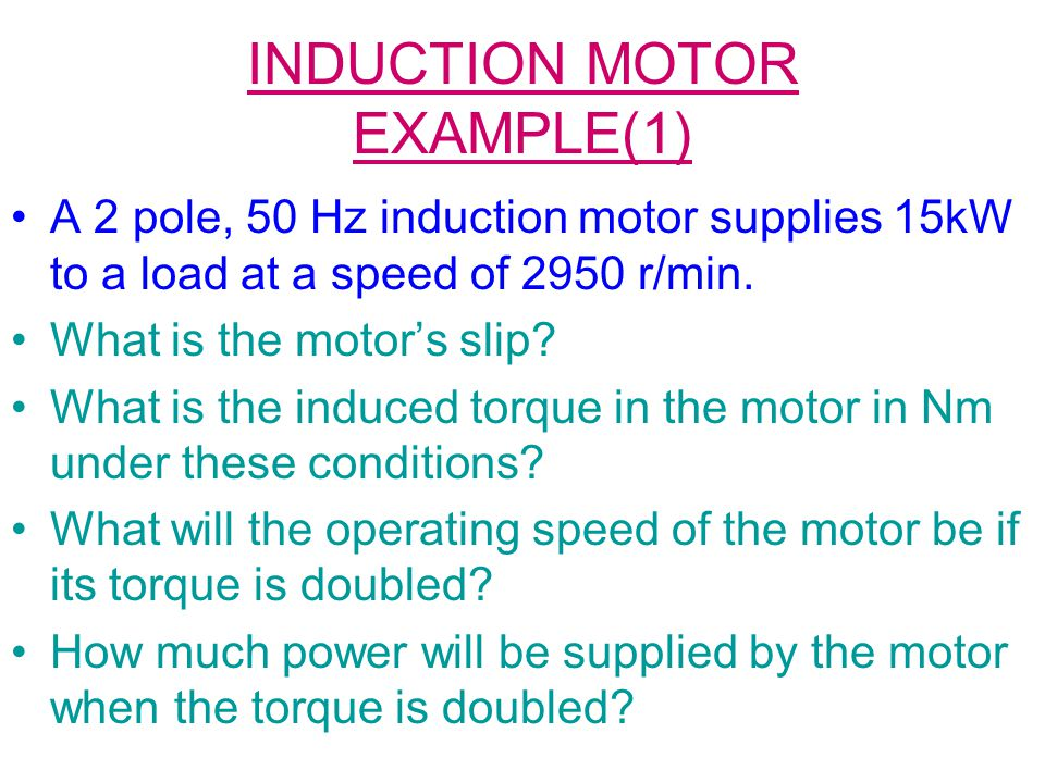 INDUCTION MOTOR EXAMPLE(1)