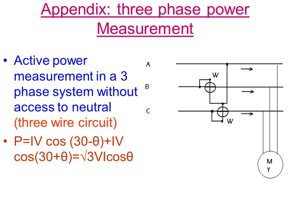 Appendix: three phase power Measurement