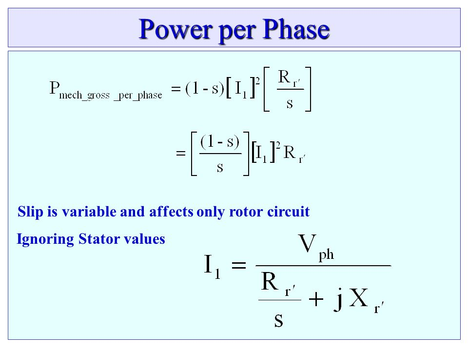Slip is variable and affects only rotor circuit