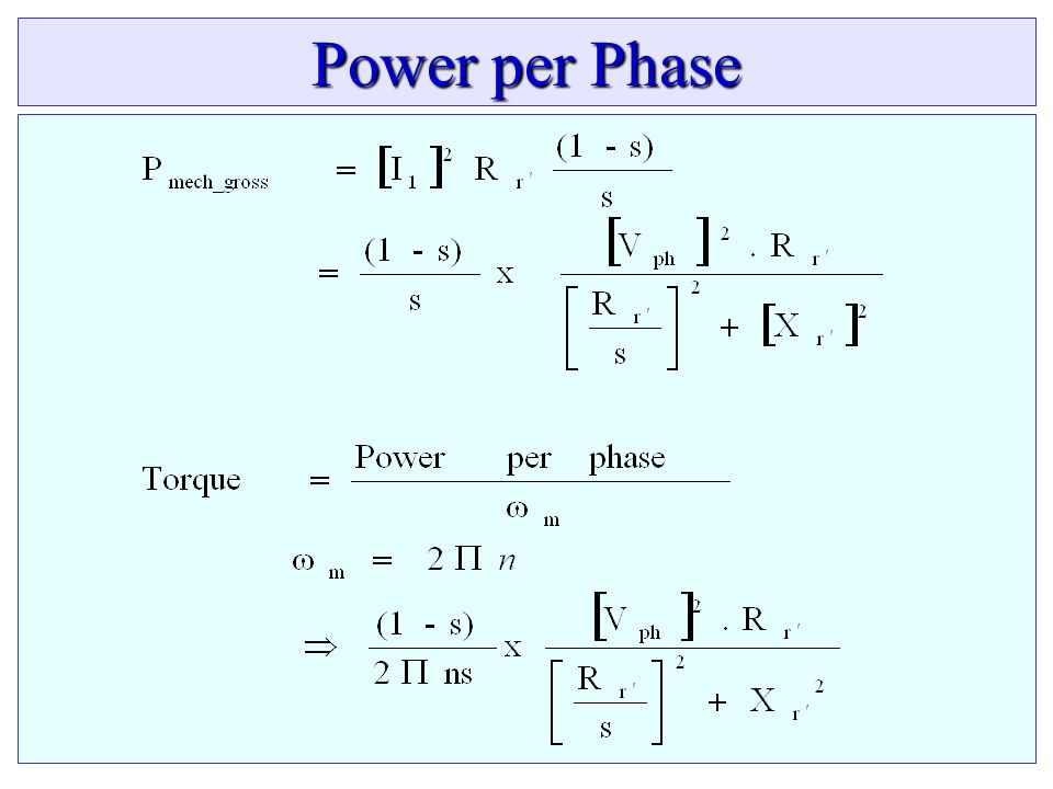Power per Phase