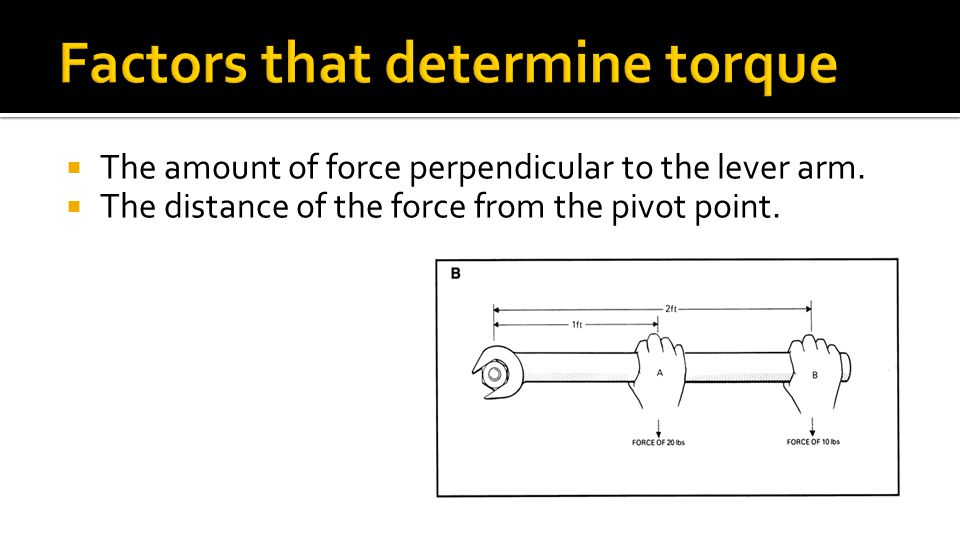 how to find torque with force and distance