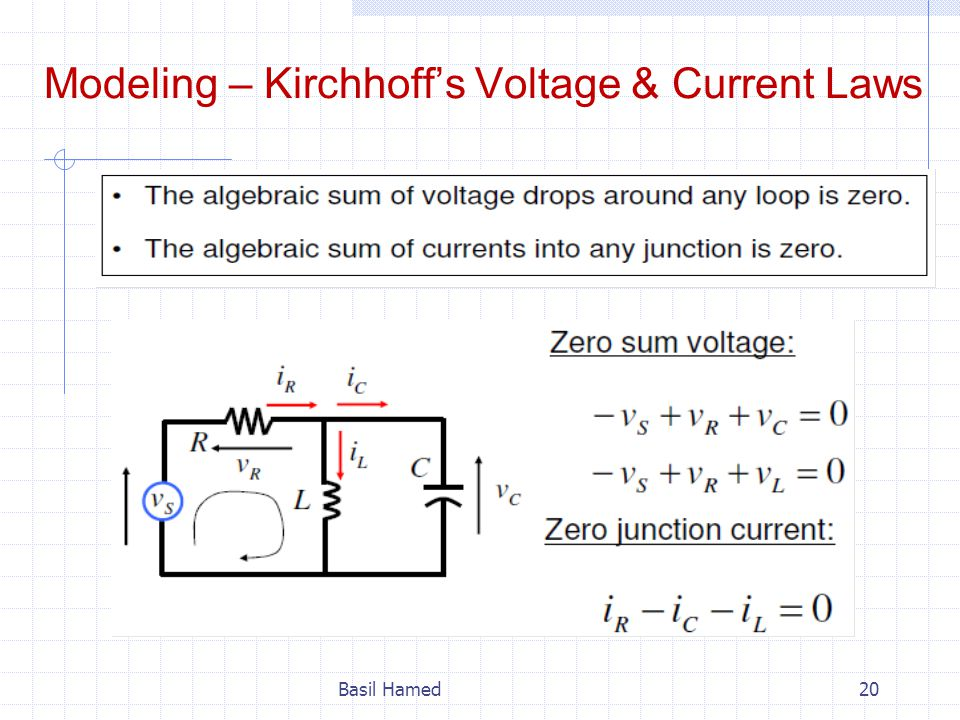 Modeling – Kirchhoff's Voltage & Current Laws