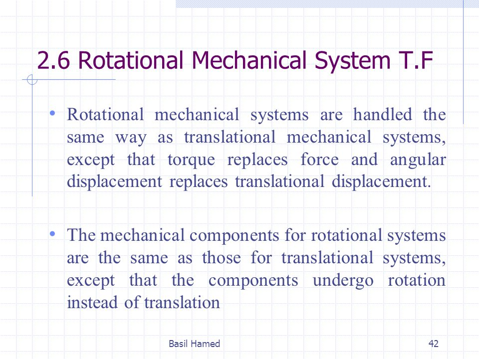 2.6 Rotational Mechanical System T.F