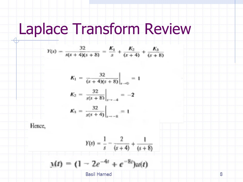 Laplace Transform Review