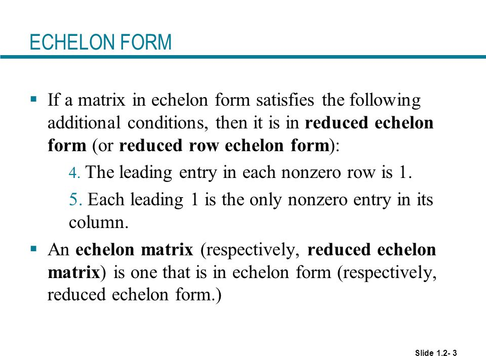 1.2 Row Reduction and Echelon Forms - ppt video online ...
