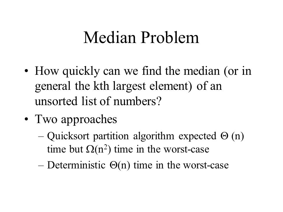 Medianorder statistics algorithms ppt video online download 3 median ccuart Images