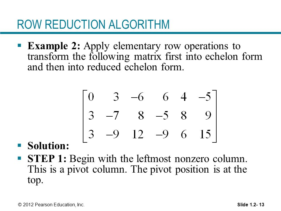 Linear Equations in Linear Algebra - ppt download