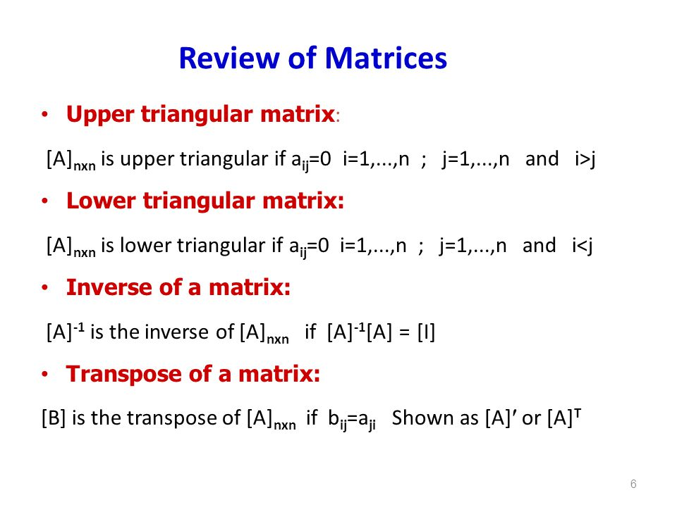 how to find upper triangular matrix