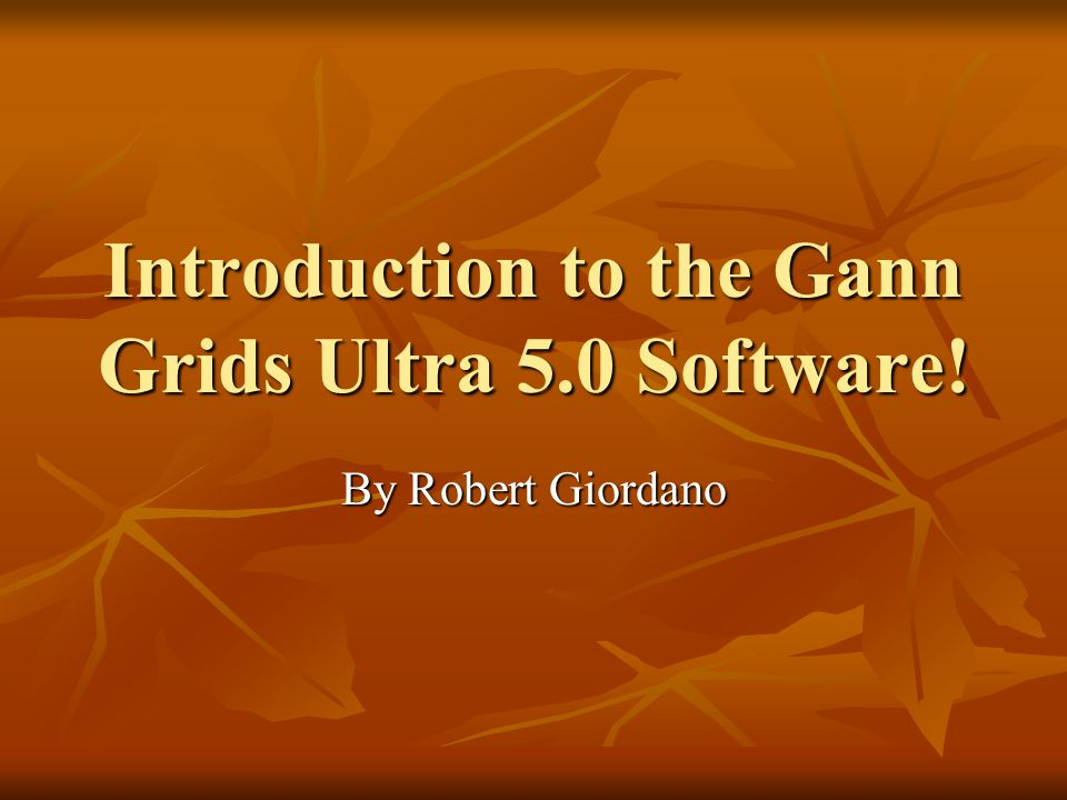 Introduction to the Gann Grids Ultra 5 0 Software!