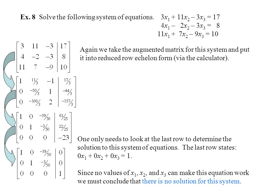 solution of linear equations by gaussian Solving linear equations by gaussian elimination jackie nicholas  with an equivalent system of linear equations which has the same solution set.