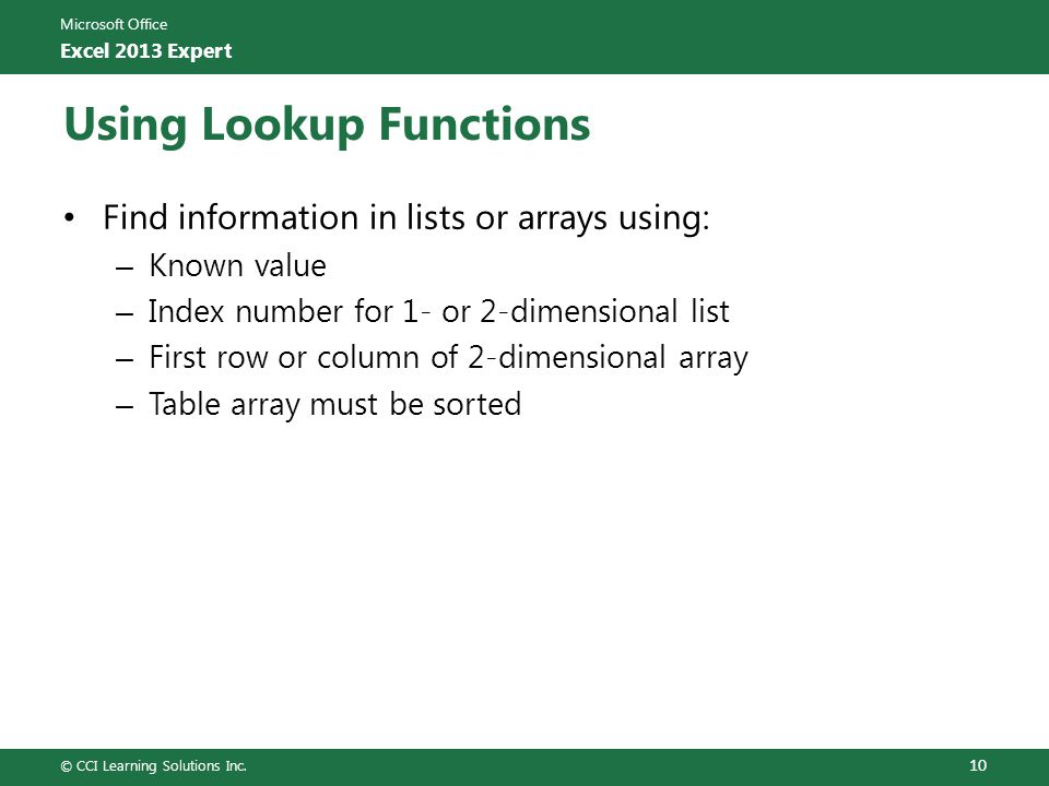 Lesson 1 Advanced Functions And Pivottables Ppt Download