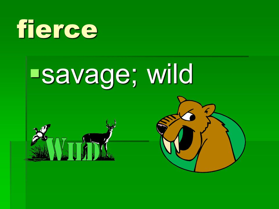 fierce savage; wild