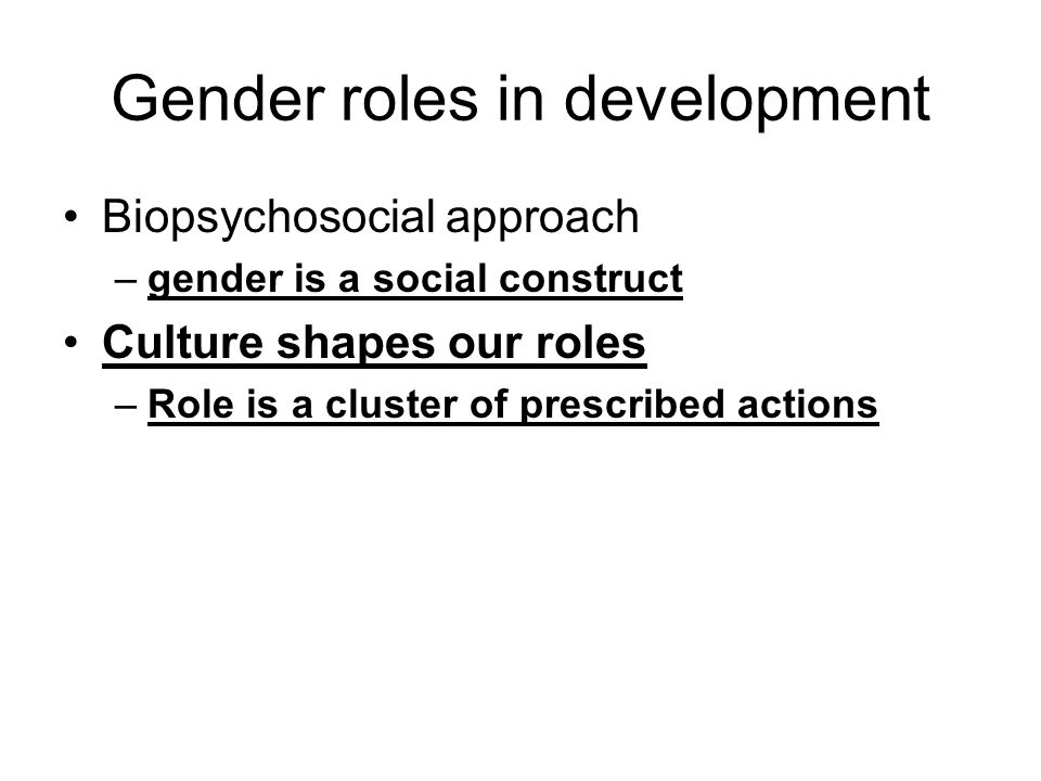 Gender roles in development