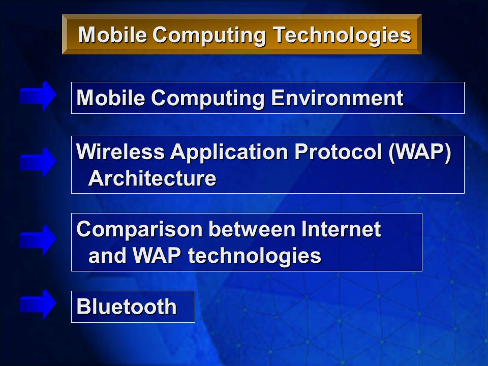 A review of the wireless application protocol wap internet technology